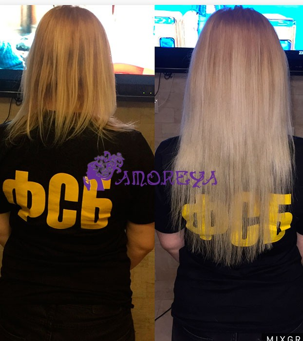 наращивание волос на короткие тонкие волосы